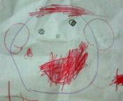三歳九ヵ月の絵